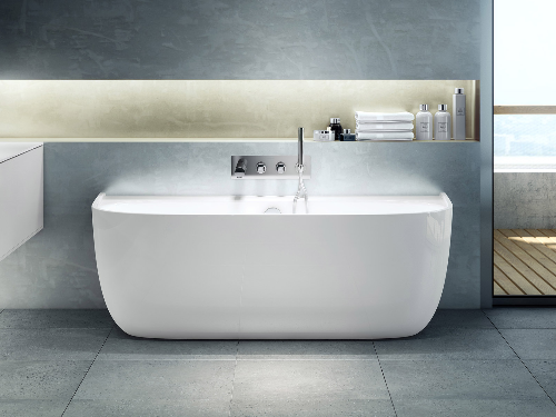 Eldon back to wall bath 1749 x 850mm, without overflow