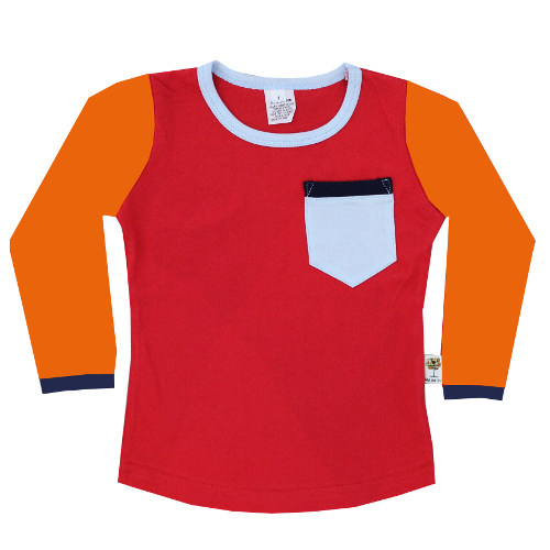 Boys Winter Red Pop/Block Top