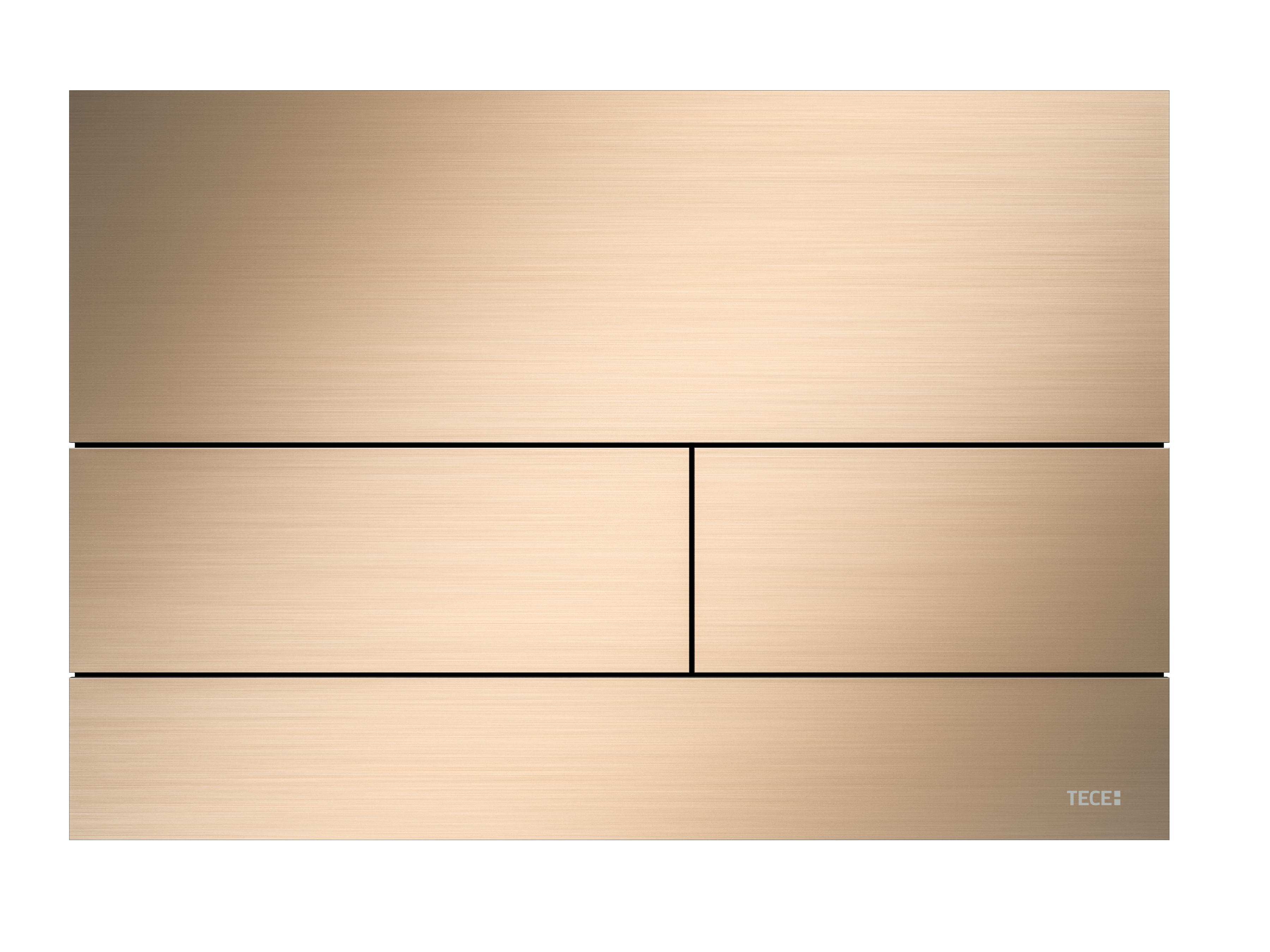 TECEsquare Metal II Flush button - PVD Brushed Gold