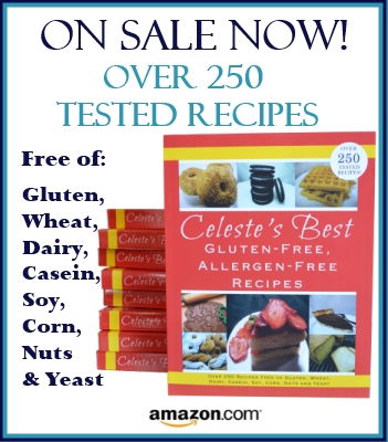 Celeste's Best GlutenFree, Allergen-Free Recipes Cookbook |www.celestesbest.com | #glutenfree #gfree