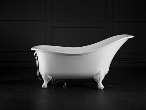 Drayton Claw foot bath 1685 x 842mm, without overflow, with White Quarrycast feet