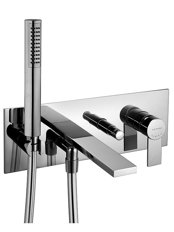 Gaia Wall mounted bath filler with hand piece