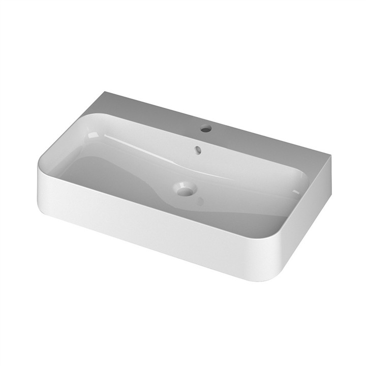 Slim Wall or Counter top basin 1TH 80 x 48cm