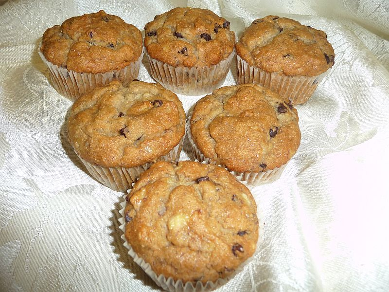 Chocolate Chip Banana Muffins from Celeste's Best Gluten-Free, Allergen-Free Recipes | www.celestesbest.com | #glutenfree #gfree #dairyfree