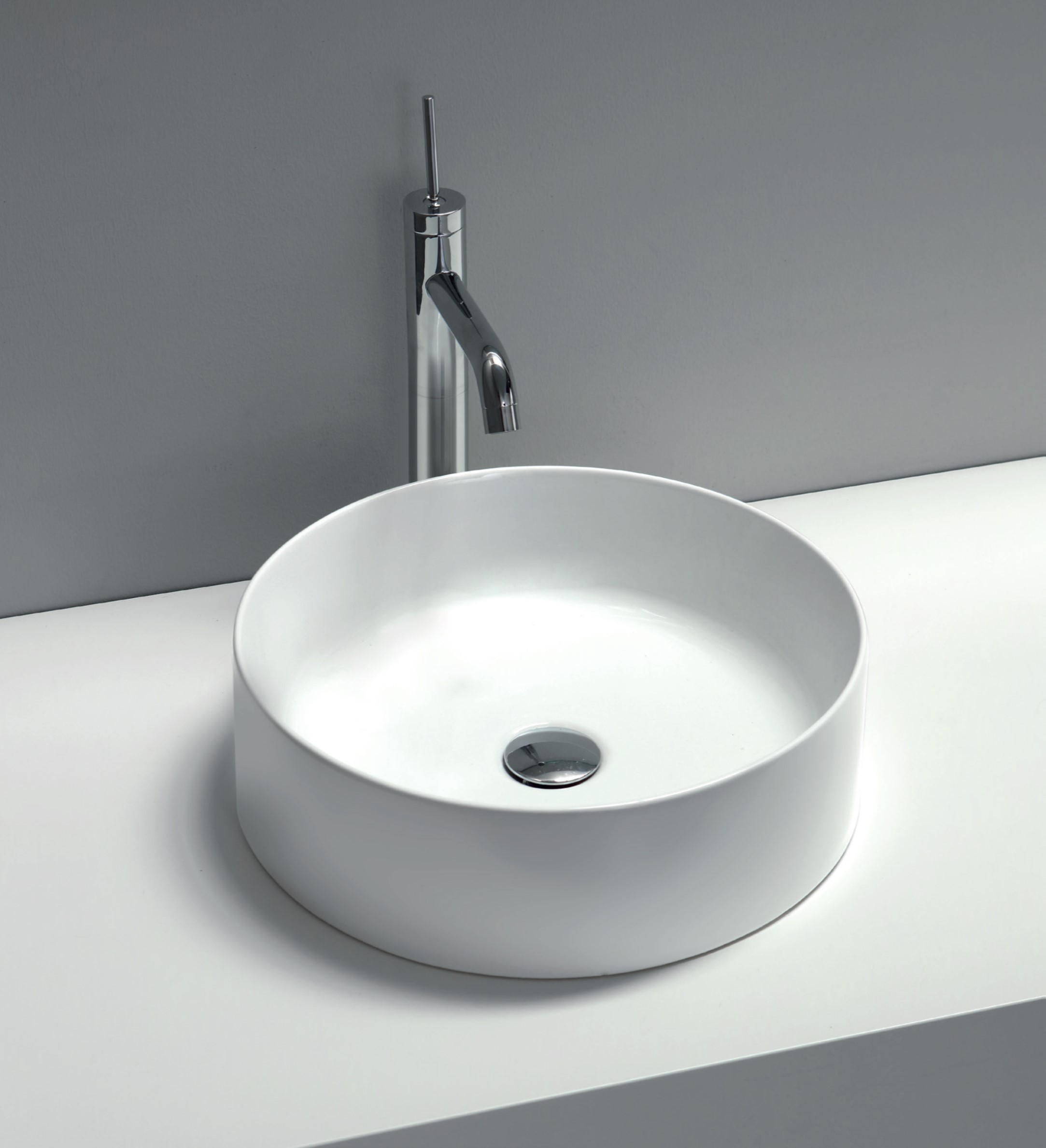 Slim Counter top basin Round 0TH 40cm - Colours Available