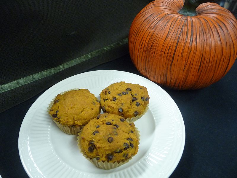 Pumpkin Chocolate Chip Muffins from Celeste's Best Gluten-Free, Allergen-Free Recipes | www.celestesbest.com | #glutenfree #gfree #dairyfree