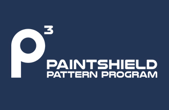 paintshield pattern program logo with p3 icon white