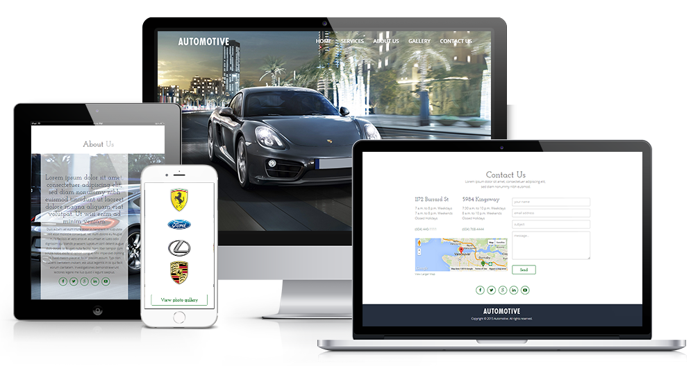 One page clean and modern responsive website template.