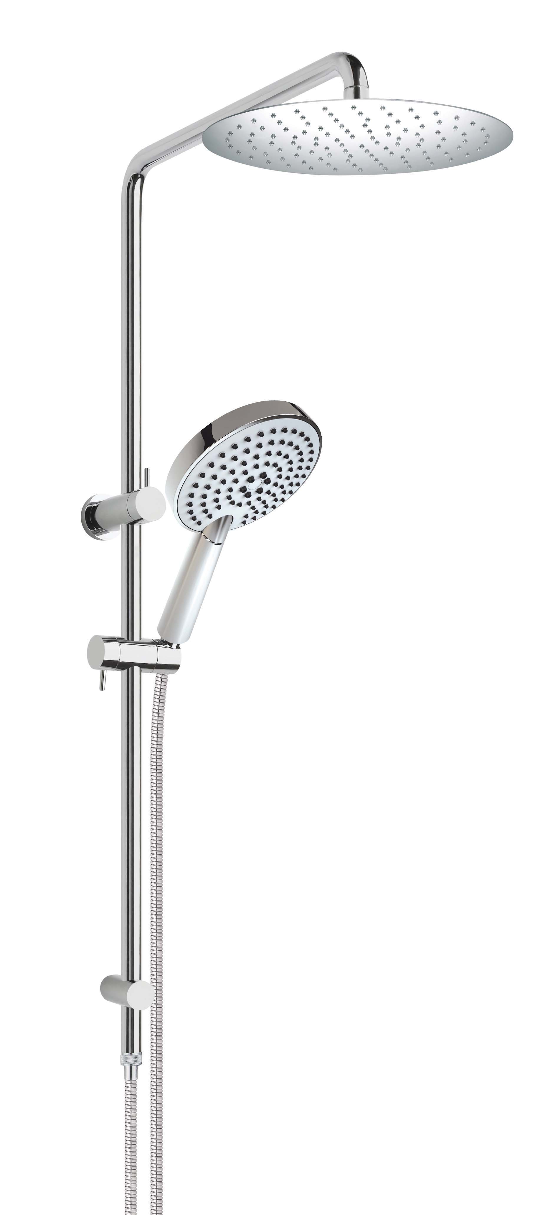 Aria 3F Shower twin shower with 250mm S/Steel rain shower