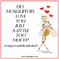 Do Mosquitos Love You Just a Little Too Mush - The Secret to Stopping the Itch Celeste's Best GlutenFree, Allergen-Free Recipes Cookbook |www.celestesbest.com | #glutenfree #gfree