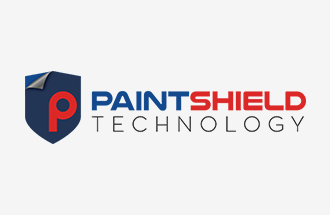 paintshield technology logotype with icon color