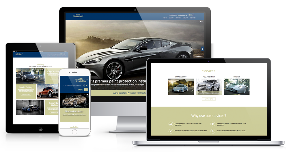 Simple, straightforward responsive website template.