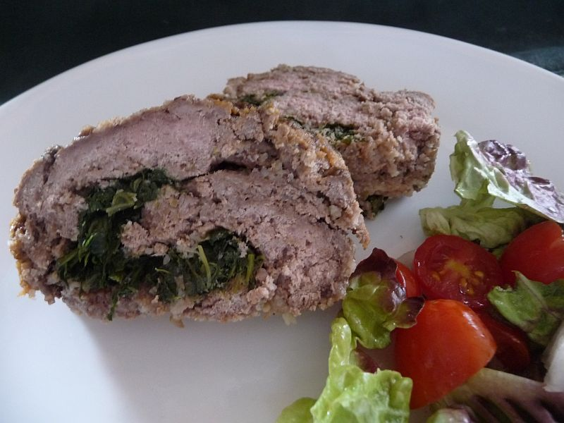 Gluten-Free Spinach Stuffed Meatloaf Roll from Celeste's Best Gluten-Free, Allergen-Free Recipes | www.celestesbest.com | #glutenfree #gfree #dairyfree<div><br></div>