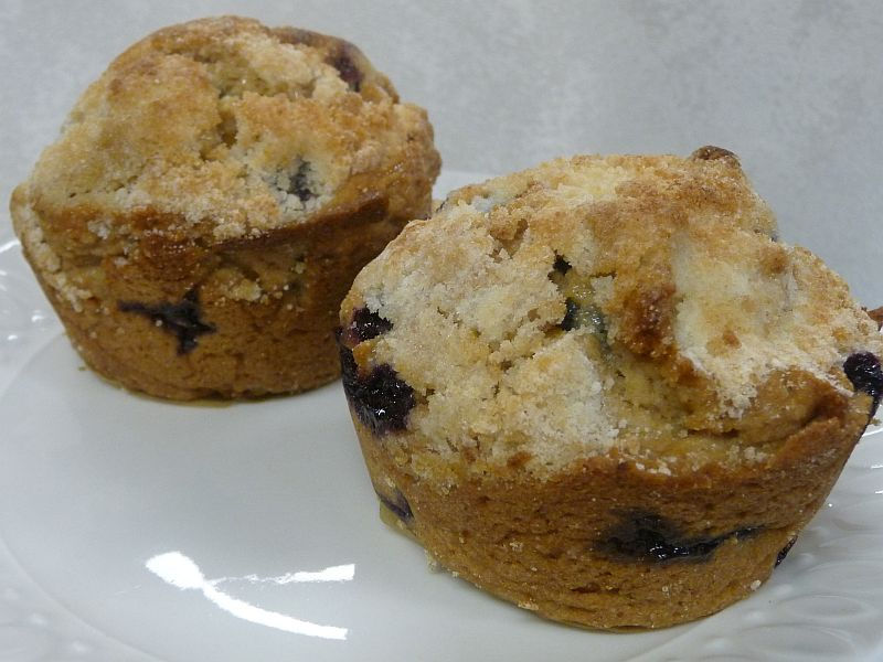 Blueberry Muffins from Celeste's Best Gluten-Free, Allergen-Free Recipes | www.celestesbest.com | #glutenfree #gfree #dairyfree