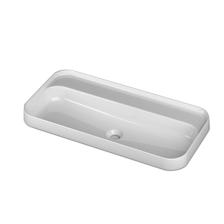 Semi inset counter top basin 1 TH 80 x 40cm