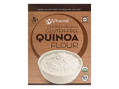 Quinoa flour is a nutritional powerhouse gluten-free flour that I use in my bread recipes.