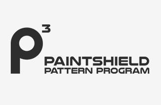 paintshield pattern program logo with p3 icon black