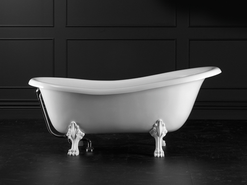 Roxburgh Claw foot bath 1704 x 809mm, without overflow, with White Quarrycast feet