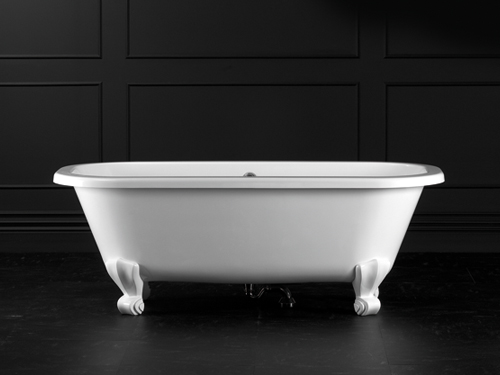 Richmond Claw foot bath 1675 x 745mm, without overflow, with White Quarrycast feet