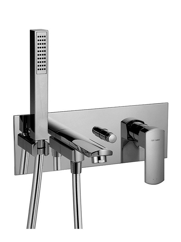 Modus Wall mounted bath filler with hand piece