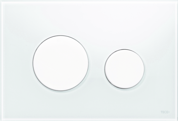 TECEloop Glass Flush button - White Glass White buttons
