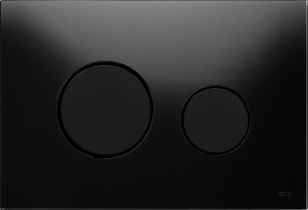 TECEloop Glass Flush button - Black Glass Black buttons