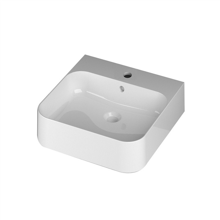 Slim Wall or Counter top basin 1TH 48 x 48cm