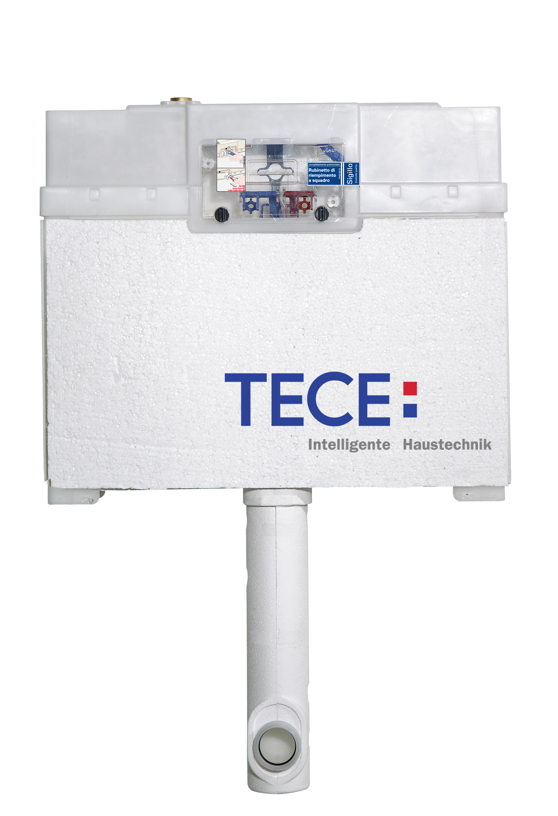 TECE 8cm Pedestal cistern WELS 3 and 4 Star rated
