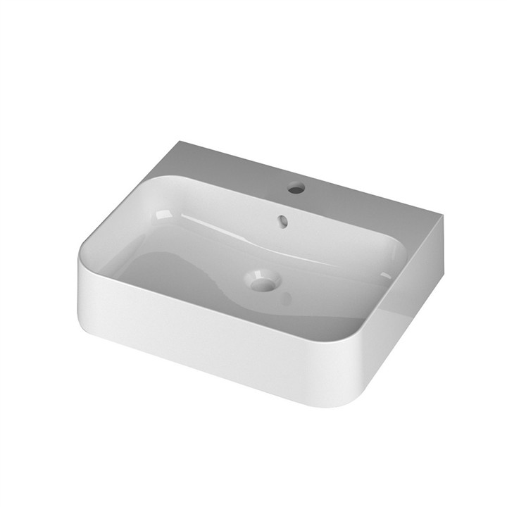 Slim Wall or Counter top basin 1TH 60 x 48cm