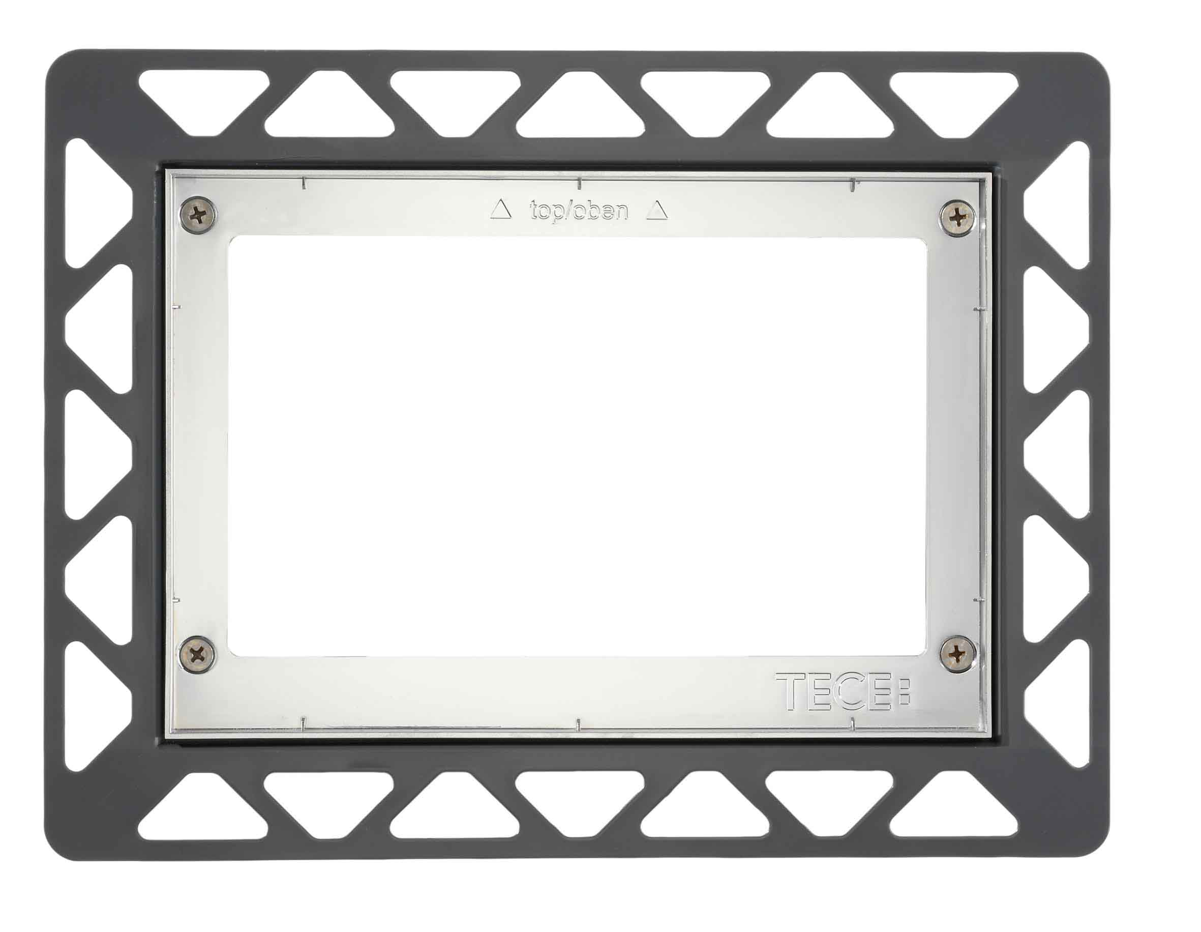 TECE recessed frame - Chrome