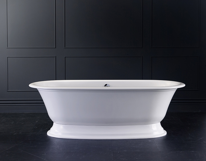 Elwick Freestanding bath with plinth 1902 x 910, without overflow