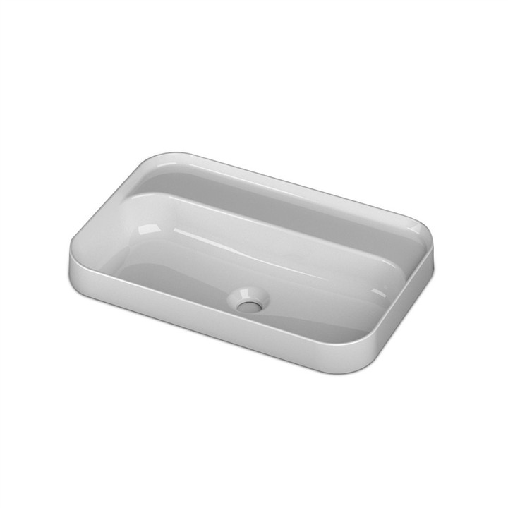 Semi inset counter top basin 1 TH 60 x 40cm