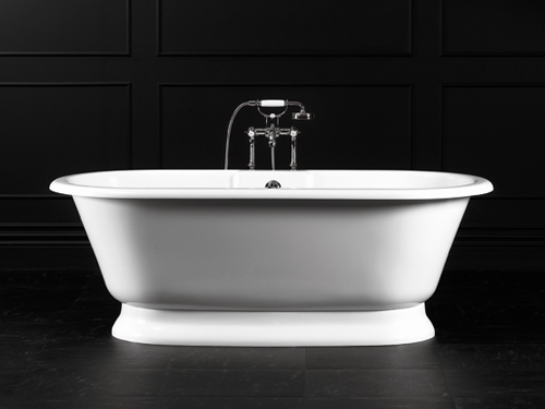 York Freestanding bath with plinth 1742 x 799mm, without overflow