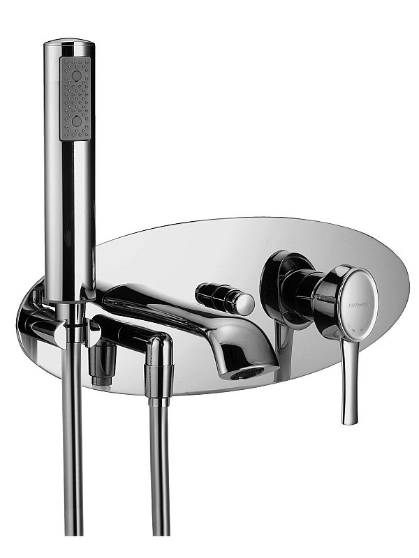 Delizia Wall mounted bath filler with hand piece