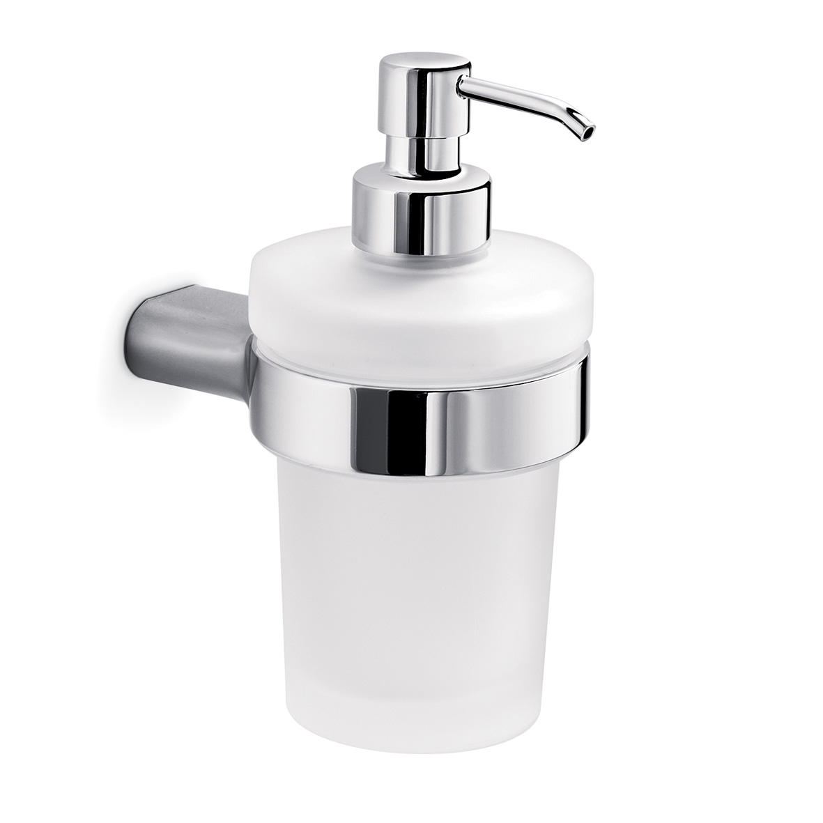 Mito Wall mounted soap dispenser - Brushed Nickel