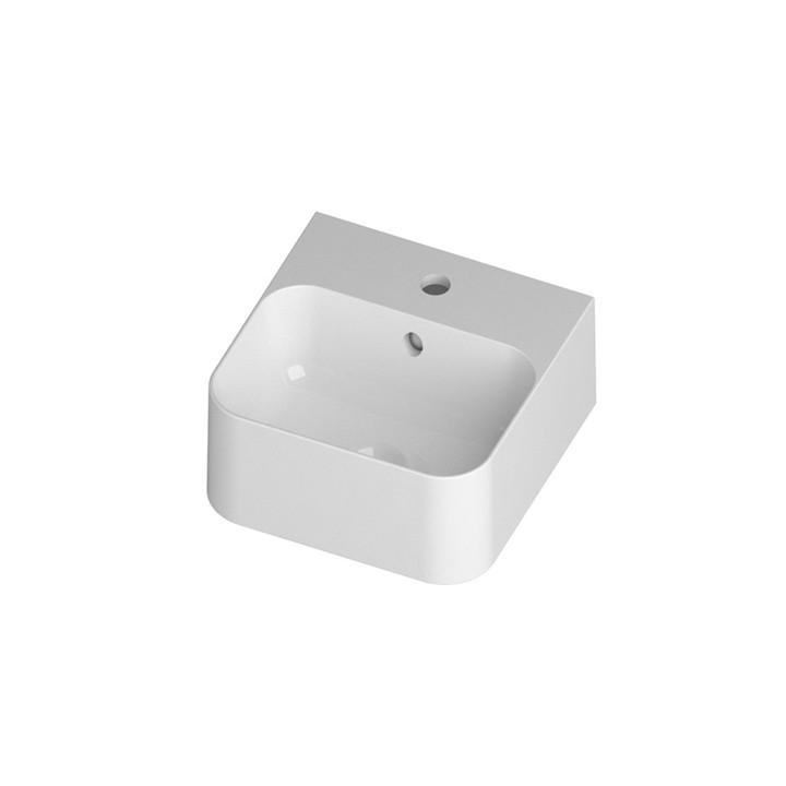 Slim Wall or Counter top basin 1TH 35 x 35cm