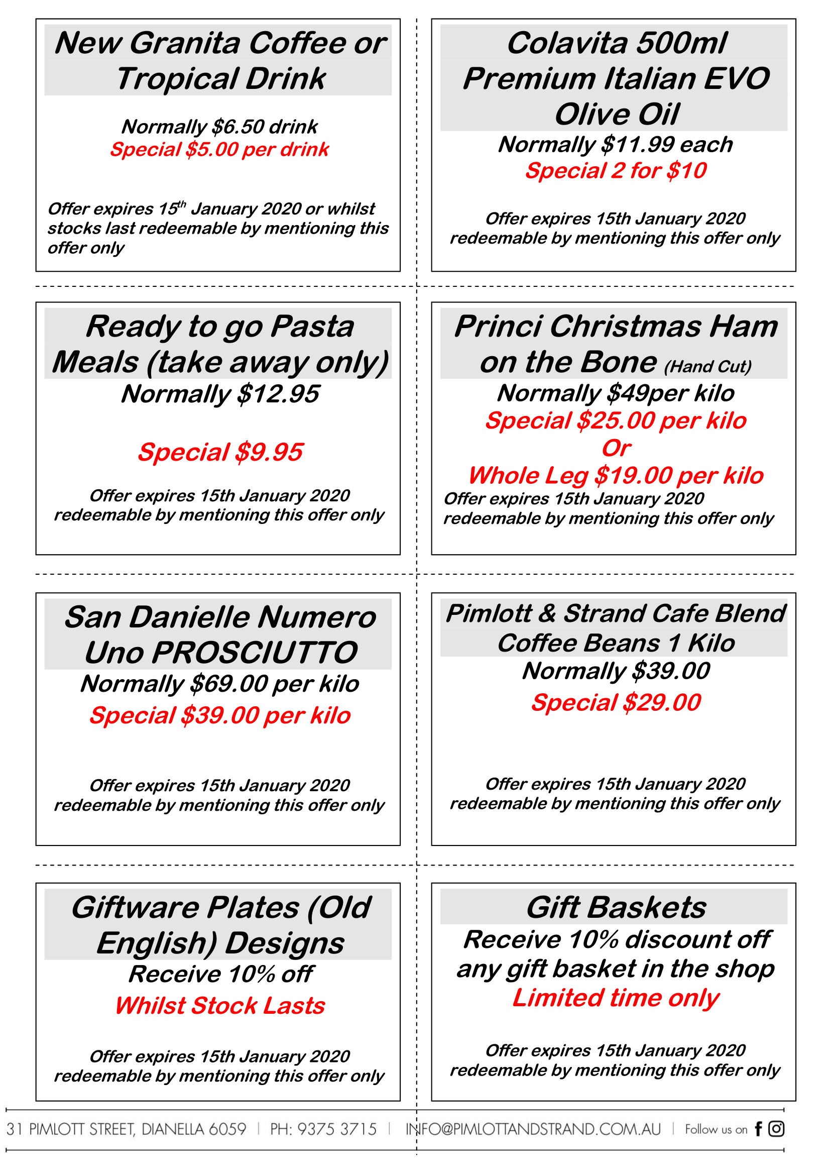 Pimlott & Strand Restaurant in Dianella Christmas Specials