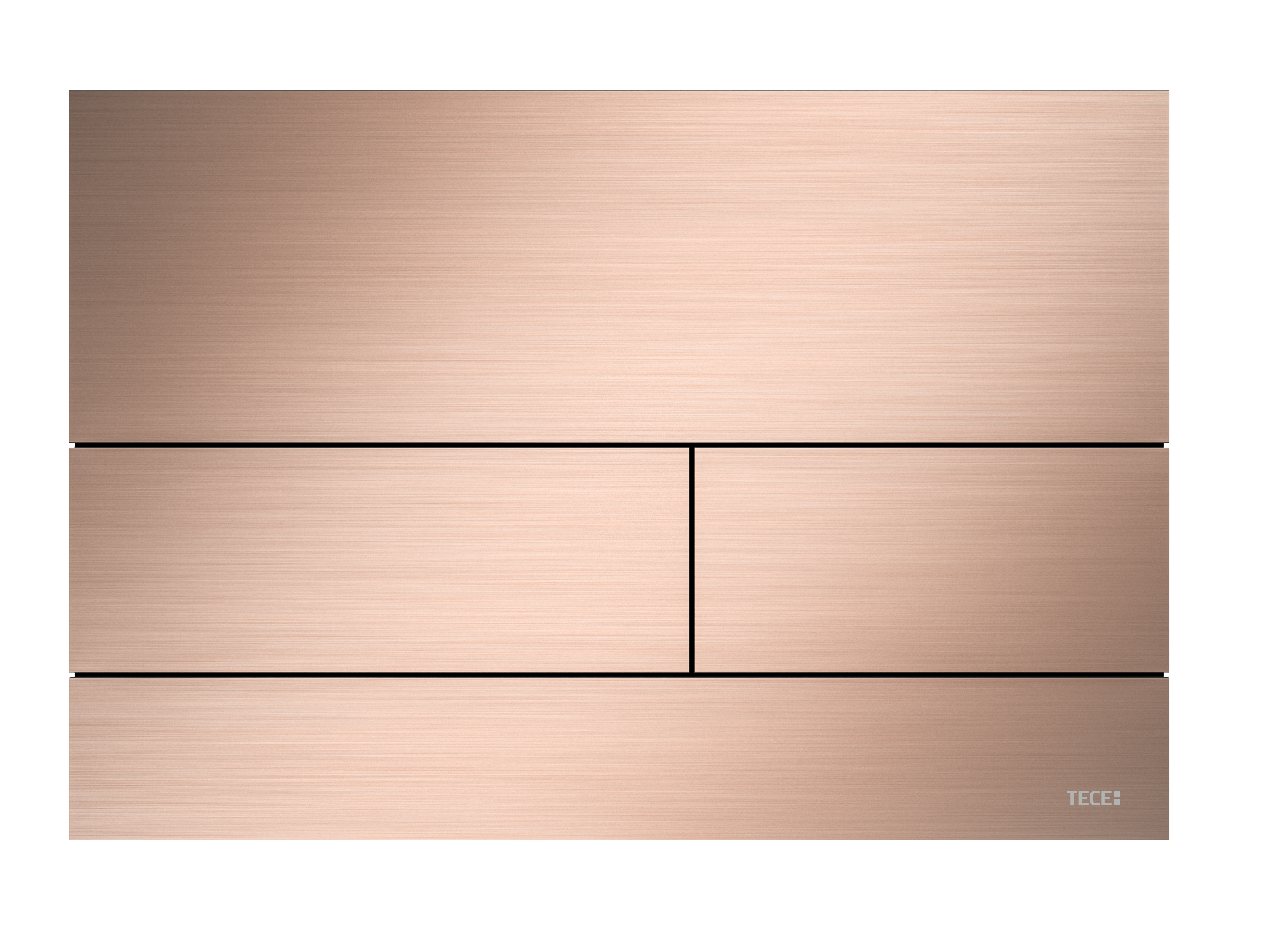 TECEsquare Metal II Flush button - PVD Brushed Rose Gold