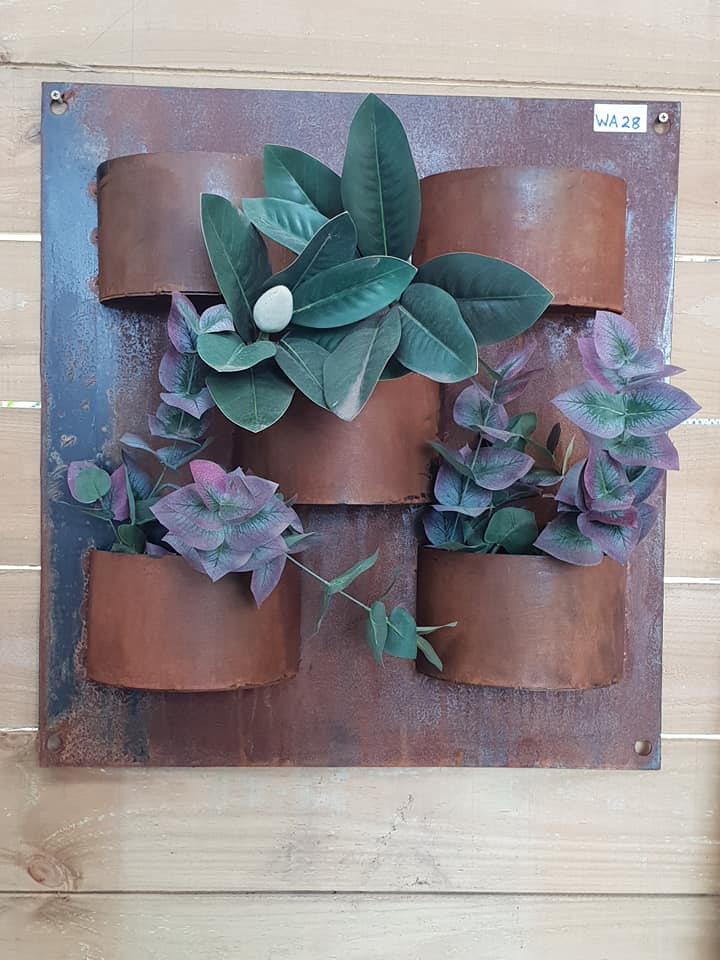 Corten 5 Pot Wall Planter