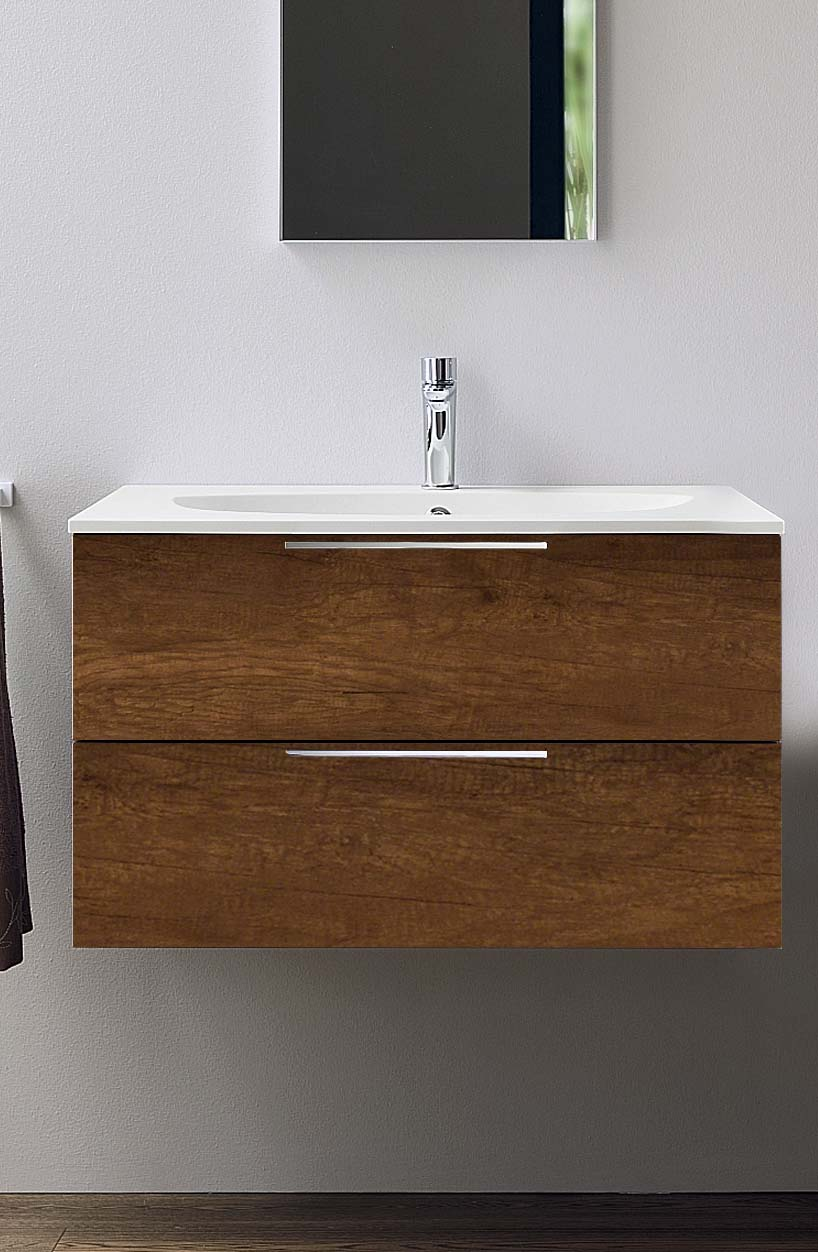 Progetto base unit 90cm with Ceramic wash basin