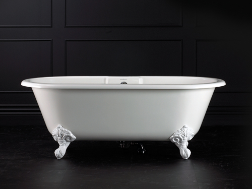 Cheshire Claw foot bath 1744 x 798mm, without overflow, with White Quarrycast feet