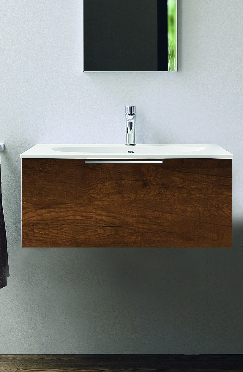 Progetto base unit 120cm with Ceramic wash basin