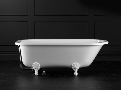 Hampshire Claw foot bath 1705 x 776mm, without overflow, with White Quarrycast feet