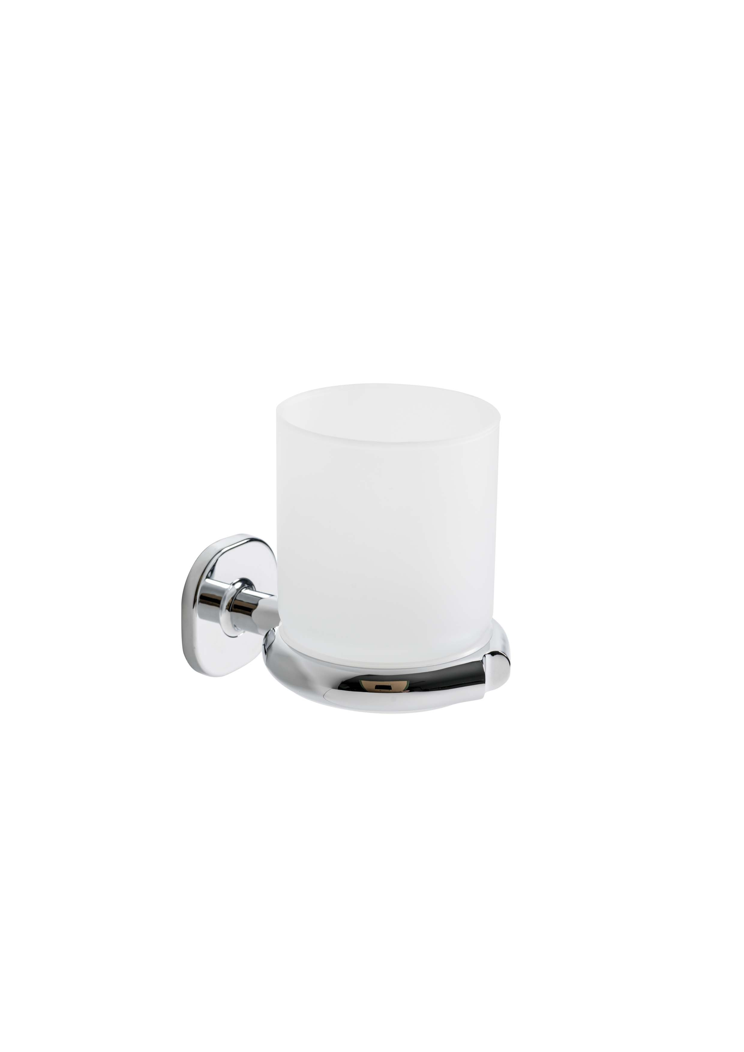Ellepi Wall mount tumbler holder with Satin glass