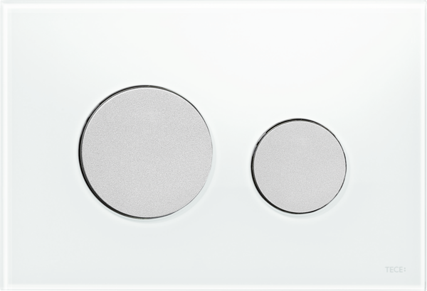TECEloop Glass Flush button - White Glass Matte buttons