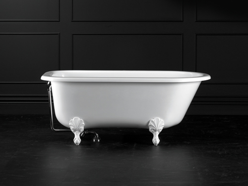 Wessex Claw foot bath 1525 x 761mm, without overflow, with White Quarrycast feet