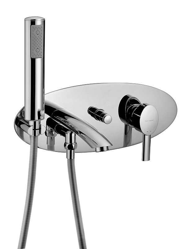 Brera Wall mounted bath filler with hand piece
